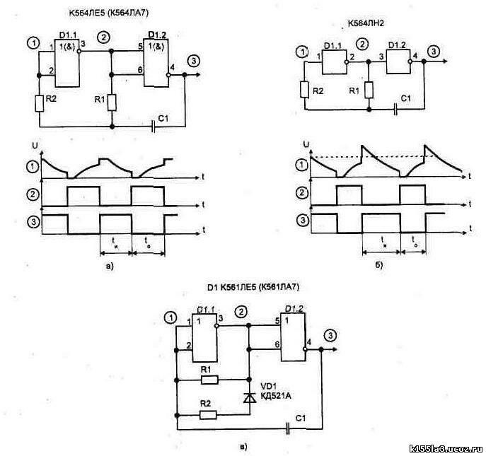 Мультивибратор на логических элементах схема фото 129